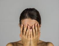 妇女,暴力 免版税图库摄影