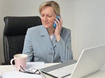 妇女,经营计划 免版税库存照片