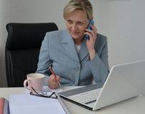 妇女,经营计划 免版税库存图片