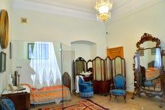 妇女:卧室在Gatchina宫殿 免版税库存照片