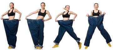妇女综合照片节食的概念的 库存照片