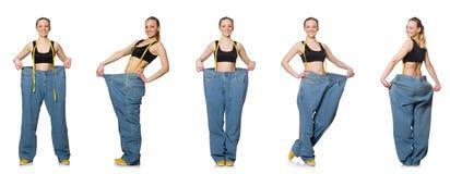 妇女综合照片节食的概念的 库存图片