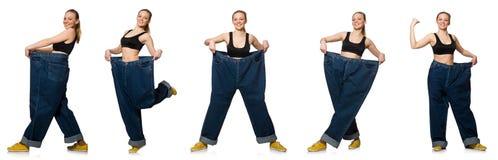 妇女综合照片节食的概念的 图库摄影