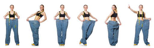 妇女综合照片节食的概念的 免版税图库摄影