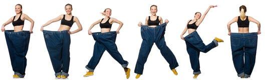 妇女综合照片节食的概念的 免版税库存照片