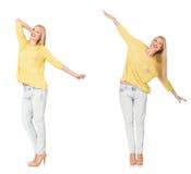 妇女综合照片以各种各样的姿势 免版税库存图片