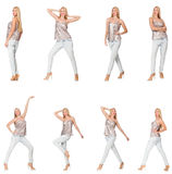 妇女综合照片以各种各样的姿势 图库摄影