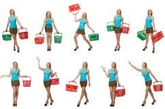 妇女综合照片  免版税库存照片