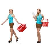 妇女综合照片  免版税库存图片