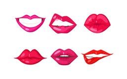 妇女嘴唇传染媒介 库存例证