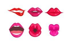 妇女嘴唇被隔绝的传染媒介 向量例证
