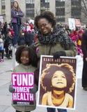 妇女`在华盛顿的s 3月 免版税库存照片
