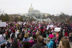 妇女`在华盛顿的s 3月 免版税图库摄影
