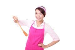妇女主妇烹调 免版税库存照片