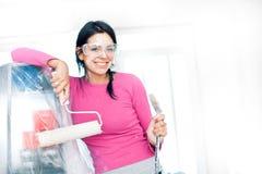 妇女画家房间 免版税库存图片