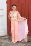 妇女/新娘泰国婚礼衣服的 免版税库存图片