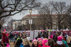 妇女3月-华盛顿特区 免版税库存照片