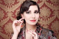 妇女-美丽的表面 免版税库存图片