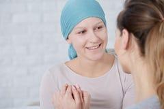妇女以脑瘤 库存照片