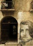 妇女画象在哈瓦那,古巴 库存照片