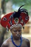 妇女年轻人祖鲁族人 免版税库存图片