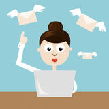 妇女-送电子邮件的经理 图库摄影