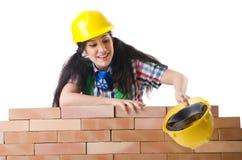 妇女建造者 免版税库存照片