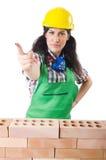 妇女建造者 免版税库存图片