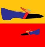 妇女` s低鞋子创造性的设计 库存照片