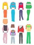 妇女` s体育衣物 免版税库存图片