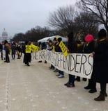 妇女` s国会大厦3月,在全国购物中心的大赦国际,美国,华盛顿特区,美国 免版税图库摄影