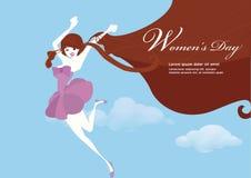 妇女` s天例证设计 免版税库存照片