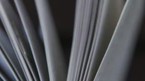 妇女` s手拿着书的页 书页 股票视频