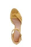 妇女` s时髦的高跟的凉鞋 免版税库存图片