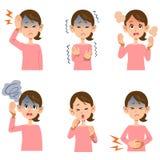 妇女` s病症6种类的症状 向量例证