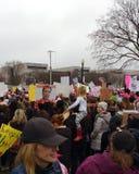 妇女` s 3月,事件、独特的海报和标志的,华盛顿特区,美国孩子 库存照片