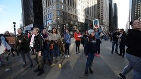 妇女` s 3月:芝加哥 影视素材