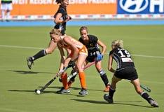 妇女Finals.Hockey欧洲杯子德国2011年 免版税库存图片