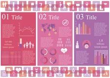 妇女infographics 免版税库存图片