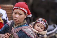 妇女Sapa 免版税库存照片