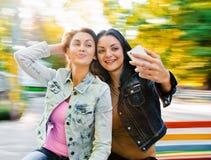 妇女selfie 库存照片