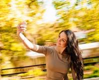 妇女selfie 免版税库存图片