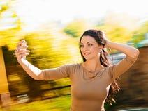 妇女selfie 库存图片