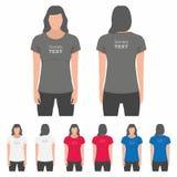 妇女T恤杉设计模板 库存例证