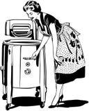妈妈做洗涤物 免版税库存照片