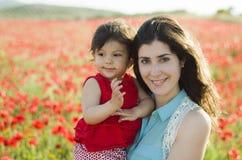 妈妈和女儿 库存照片