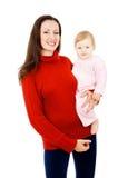 妈妈和小婴孩,一个愉快的系列 免版税库存图片