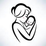 妈妈和婴孩标志 皇族释放例证