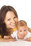 妈妈和婴孩 免版税库存照片