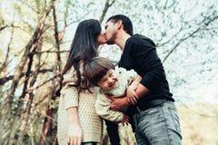 妈妈爸爸和儿子 免版税图库摄影